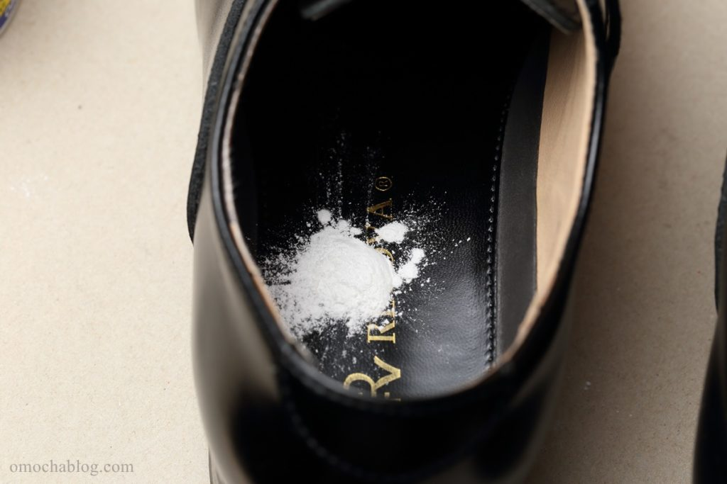 グランズレメディをスプーン一杯分、靴に入れたところ