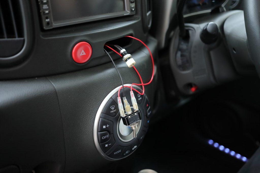 ドラレコGoSafe S70GS1スイッチ