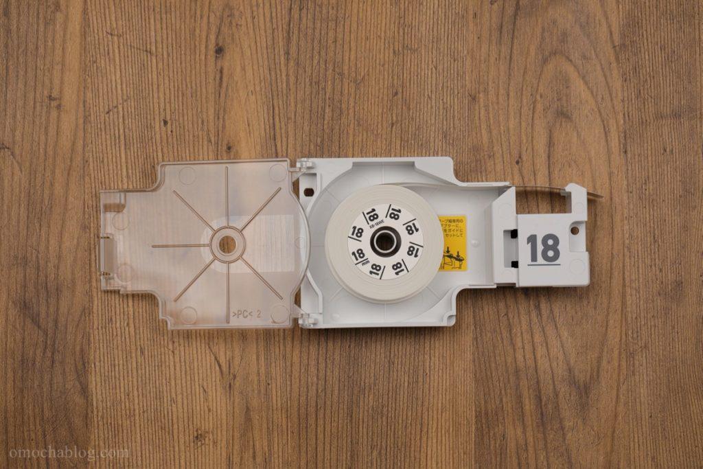EC-P10のテープをセット