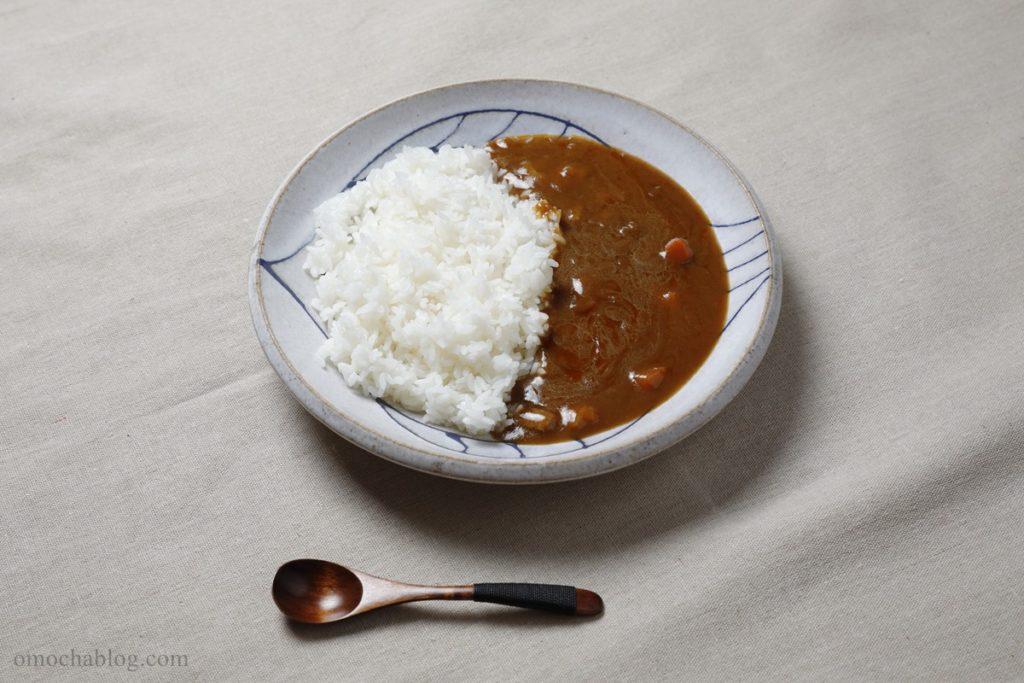 グリコ保存用カレーの常温での調理例