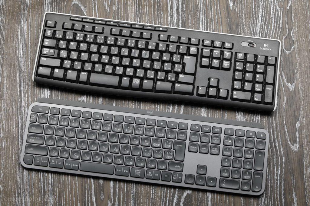 KX800 MX KEYSと安いキーボードの比較