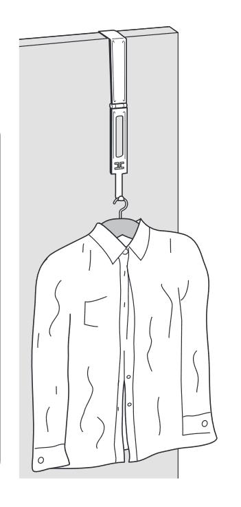 スチーマーのフックの使用例