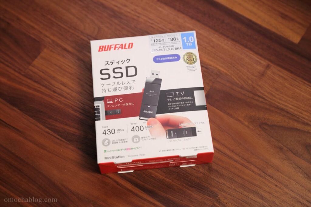 USBタイプのSSD「SSD-PUT1.0U3」