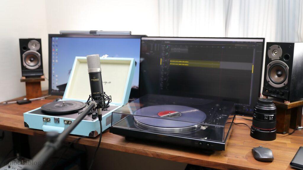 レコードの音質をマイクで比較