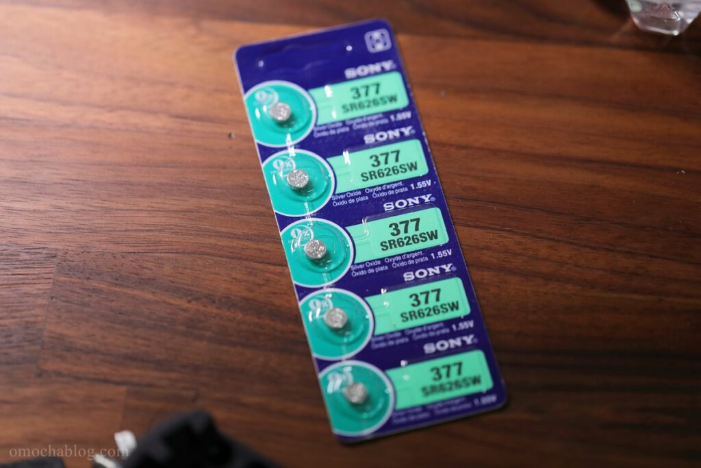 腕時計用の電池